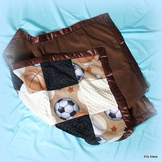 Sports Baby Blanket by EllaAlana on Etsy, $42.00