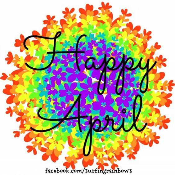 Happy April via www.Facebook.com/SurfingRainbows: