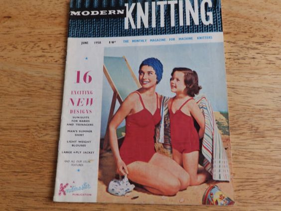 Vintage Modern Knitting Monthly Magazine for Machine by EverandAva
