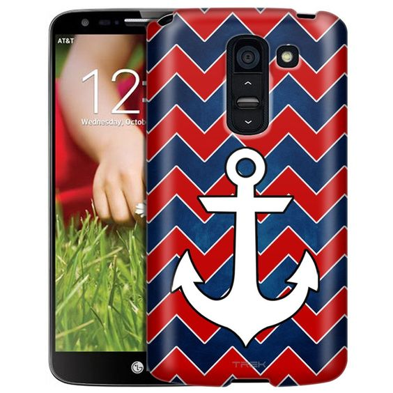 LG G2 Slim Case Patriotic Anchor on Chevrons Slim Case