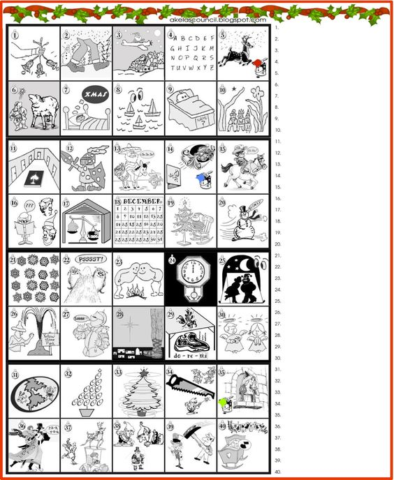 Printable * Guess the Christmas Songs or Carols Word Puzzle PreOpener ...