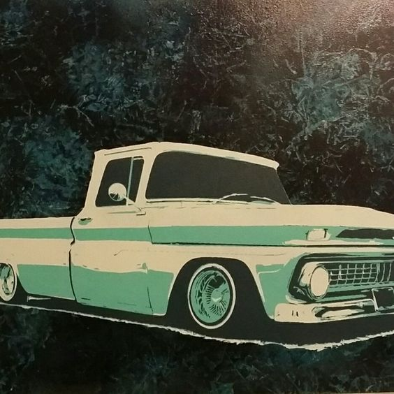 New vintage lowrider! One of a kind.. Multilayer on wood panel!