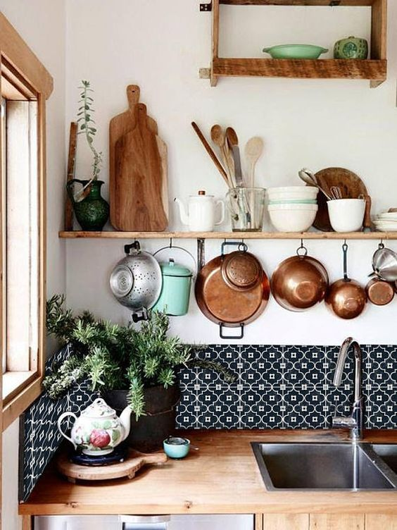 Kitchen and Bathroom Splashback - Removable Vinyl Wallpaper - Arabelle Black - Peel & Stick