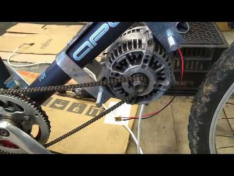 Diy Ebike With Car Alternator V2 Episode 2 Alti Motor Mounted At Last Youtube Car Alternator Electric Bike Diy Alternator