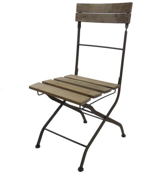 Interior Design Chaise De Jardin Pliante Chaise Bistrot Pliante Fauteuil Interieur Exterieur En Bois Et Jardin Inter Outdoor Chairs Outdoor Decor Folding Chair