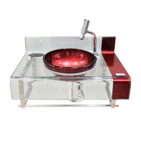 Gabinete Chopin 60×40 vermelho