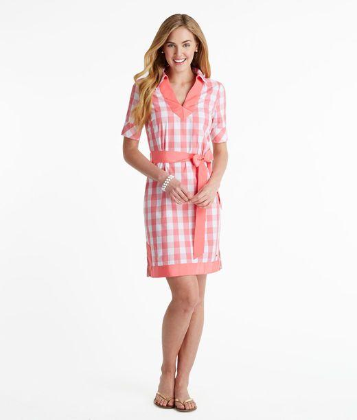 Shop Big Gingham Shirt Dress for Women  Vineyard Vines®  Dresses ...