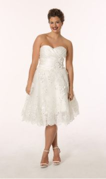 Plus size short wedding dresses are here. Make sure the hem length ...