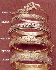Hawaiian Jewelry - Bracelets Love the one with the flower!