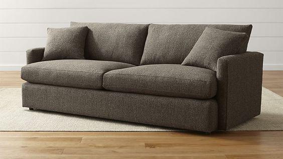 "Lounge II Petite 93"" Sofa | Crate and Barrel"