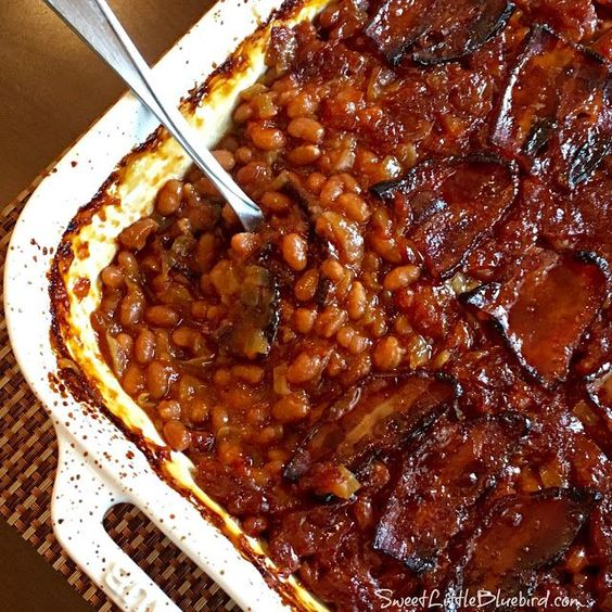 Anastasia's Best Ever Baked Beans by Sweet Little Bluebird is the most clicked recipe at Weekend Potluck #218 at The Country Cook. Nothing like baked beans at a BBQ and these look fabulously delicious. www.thecountrycoo...