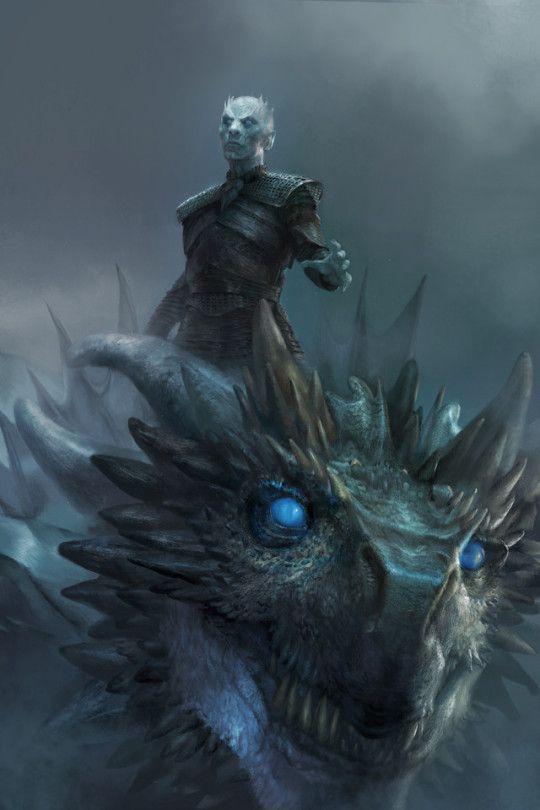 Viserion y el rey de la Noche.