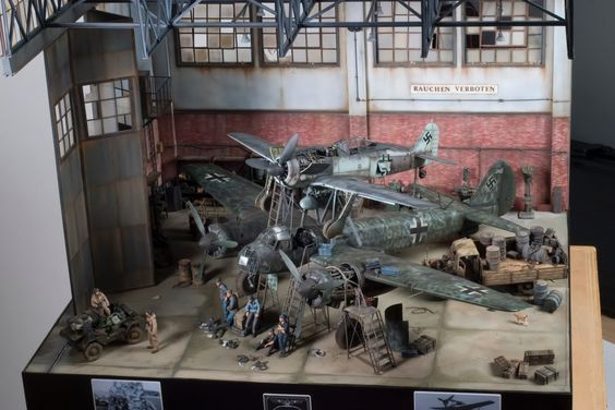 Junkers Ju 88 1/32 Scale Model Diorama
