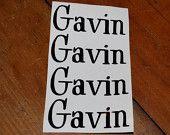 Vinyl Name Labels
