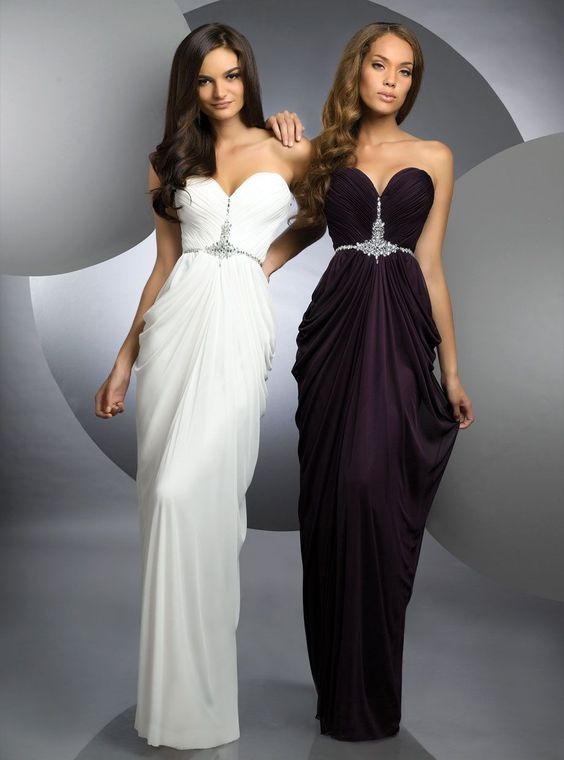Sheath/Column Sweetheart Chiffon Prom Dresses #USALF329    BECKY DRESS