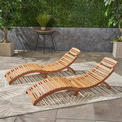Nannette Chaise Lounge Lounge Chair Outdoor Outdoor Chaise Teak Chaise Lounge