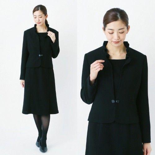 喪服 礼服 フリルカラーブラックフォーマル2点セットスーツ 7 21abr リンディ lindy 通販のベルメゾンネット ファッション 礼服 リンディ