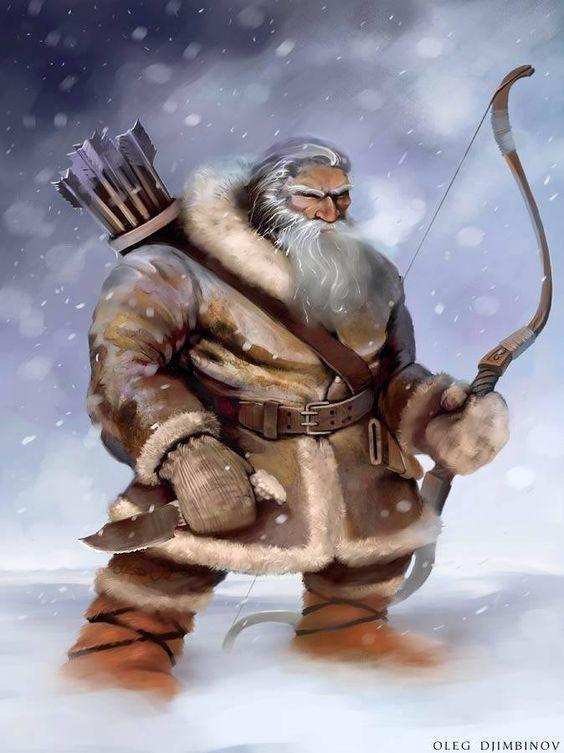 dwarf archer, has longer range than axe thrower but less damage.