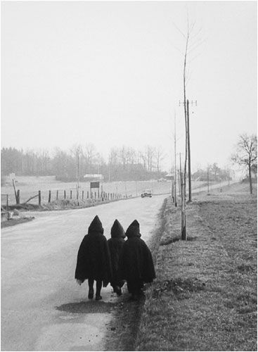 To school, 1959  By Willy Ronis