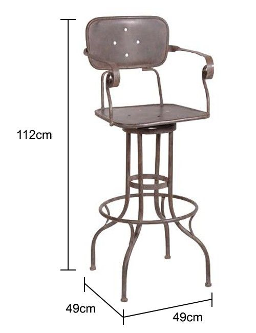 Tall Factory Stool