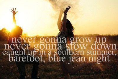Barefoot blue jean night<3