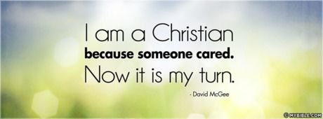 Because Someone Cared - Facebook Cover Photo