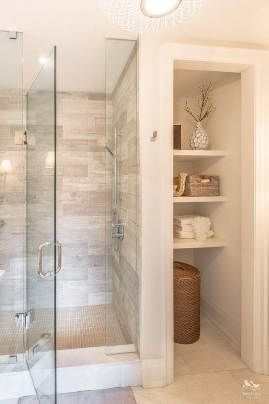 Master Bathroom Shelving Ideas