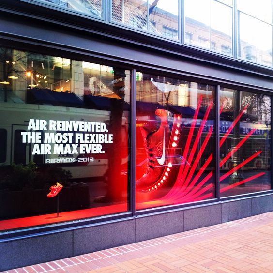 Retail Store Front: Vinyls, Window And Nike On Pinterest
