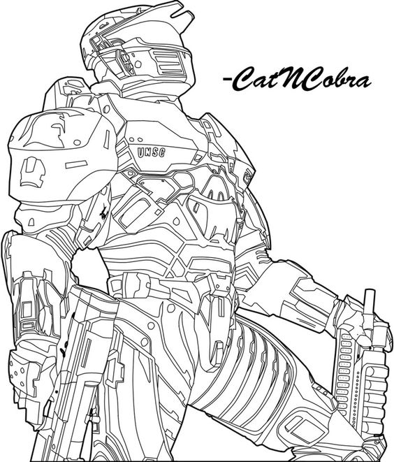 Deviantart More Like Halo Wars Elite By Catncobra With Images Cartoon Coloring Pages Halo Drawings Coloring Pages