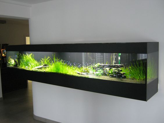 Hemnes Ikea Vitrinenschrank ~   Süßwasseraquarium in L  Form Aquarium 339 ( 88 ) x 42 x 68