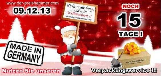 Der Weihnachts-Countdown läuft... nur noch 15 Tage!  der-preishammer.com wünscht Euch einen schönen Wochenstart....  http://www.der-preishammer.com/