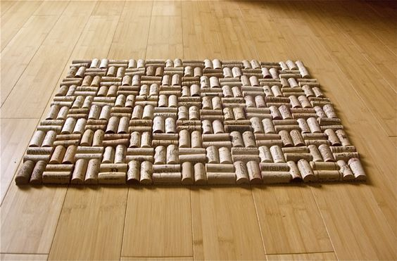 Wine cork rug who knew there were so many ways to for Wine cork welcome mat