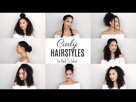 3 Super Easy Hairstyles For 3b 3c Curly Hair Bella Kurls Extensions Ashley Bloomfield Youtube Curly Hair Styles Hair Styles Curly Hair Styles Naturally