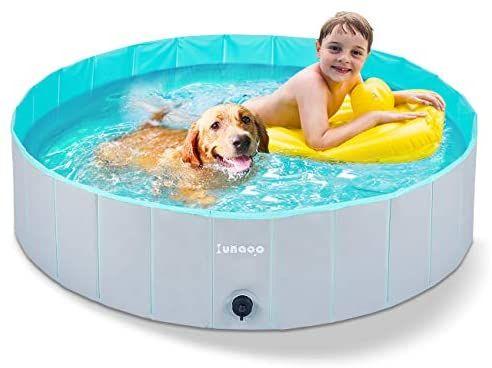 Lunaoo Foldable Dog Pool Portable Kiddie Pool For Kids Pvc Bathing Tub Outdoor Swimming Pool For Large Small Dogs Dog Pool Kid Pool Kiddie Pool