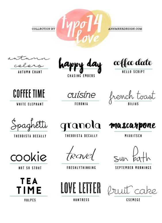 Ann.Meer by Anna-Maria Dahms: LOVELY FONTS #14