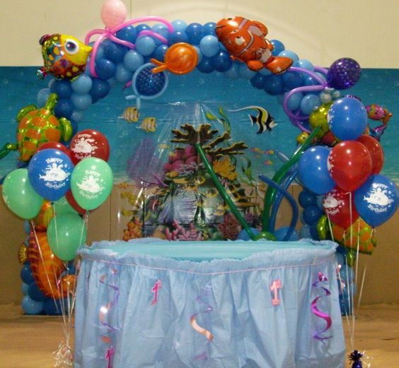 under the sea party decorations   Under the Sea Balloon Arch