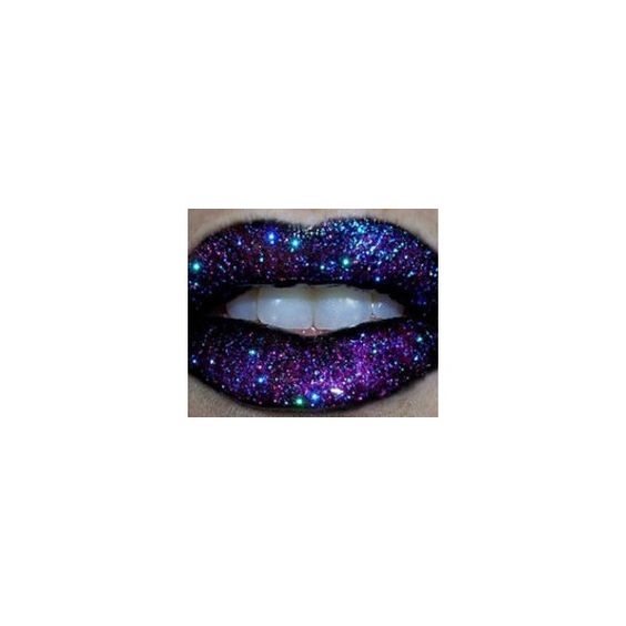 purple glitter lips ❤ liked on Polyvore featuring beauty products, makeup and lip makeup