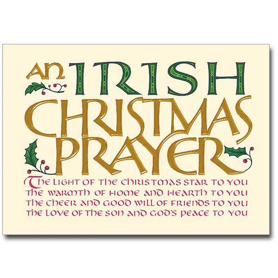 Christmas blessings christmas prayer and irish on pinterest