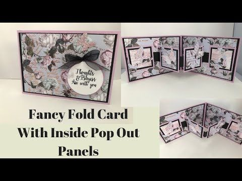 Fancy Fold Card With Inside Panels Youtube Fancy Fold Cards Fancy Folds Fun Fold Cards