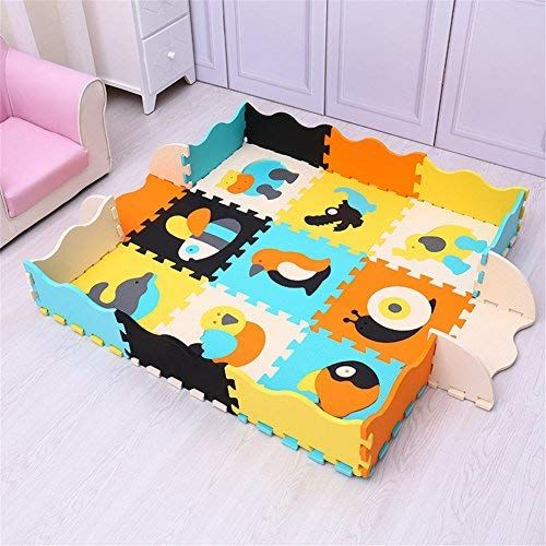 Eanpet Large Area Rugs For Kids Carpet Playmat For Baby Crawling Mat Double Sides Foam Floor Mat With Fence Non Baby Activity Mat Baby Crawling Mat Kids Jigsaw