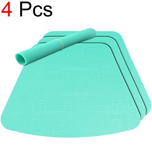 Tablecare Wedge Silicone Placemats For Round Table Dining Table