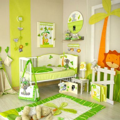 d coration chambre b b jungle chambre d 39 enfants. Black Bedroom Furniture Sets. Home Design Ideas