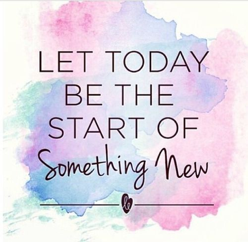 Start of something new....