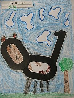 Children use the number 100 to make a design and then write about it