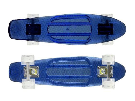 "Zycle Fix Mayhem 22"" Penny Style Skateboard (Acrylic Blue)"