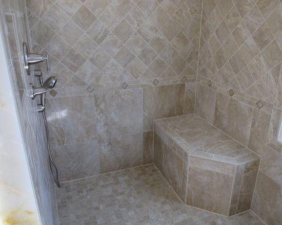 traditional bathroom tile shower stall design pictures
