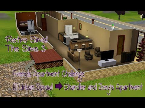 Retro Simming Friends Apartment Challenge Chandler And Joey The Sims 3 Https Youtube Com Watch V A Nisg3p5uo Friends Apartment Sims 3 Sims