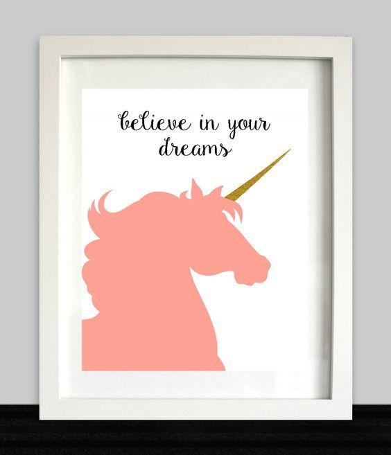 Unicorn Party Sign Unicorn Wall Art Unicorn Birthday