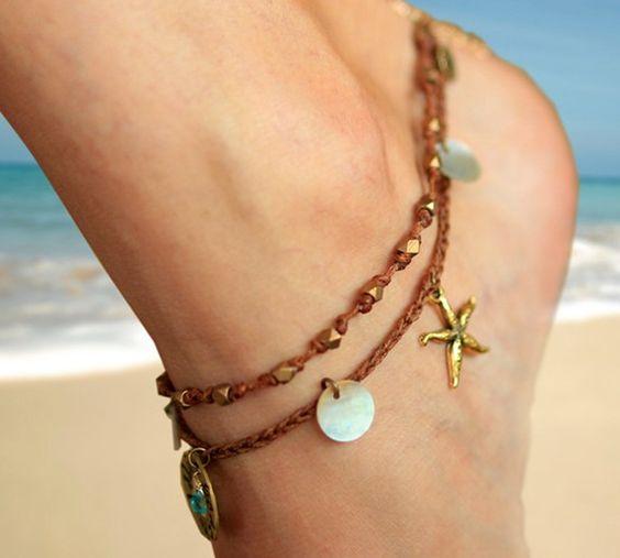 Bracelet de cheville Beach girl par Jewelryhut sur Etsy