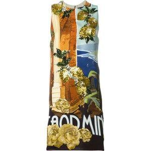 Dolce & Gabbana Taormina Print Embellished Dress